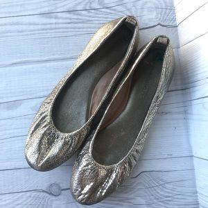 Banana Republic Metallic Snake Ballet Flats Sz 7.5